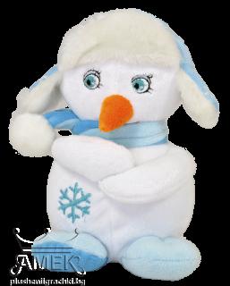Снежен човек с ушанка| 2 цвята