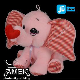 Розов слон със сърце| 2 цвята