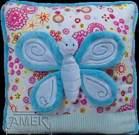 Възглавница с пеперуда| 3 цвята