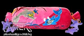 Възглавница бонбон с делфини| 2 цвята| 40см