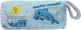 Несесер с делфини| 3 цвята| 22 см