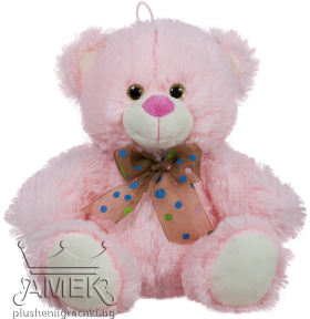 Teddy bear with glitter eyes and a bow| 3 colours