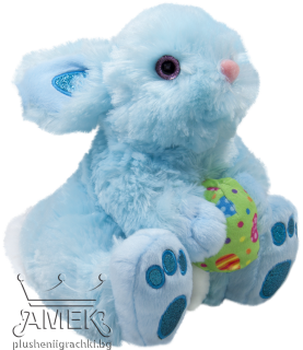 Rabbit with flower and glittler paws