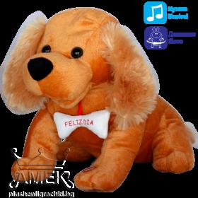 Интерактивна играчка| Куче с кокал| 2 цвята