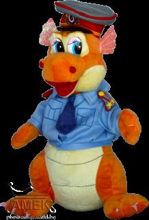 Дракон полицай| 3 цвята| 25 см