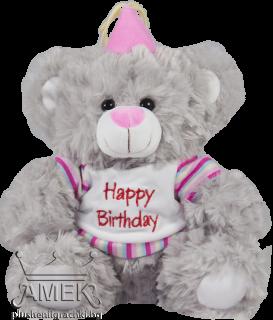 "Мече ""Happy Birthday""| 4 цвята"