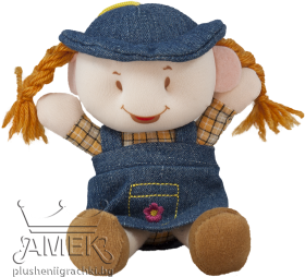 Doll with denim clothes